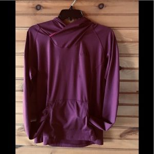The North Face hoodie (Large) burgundy color